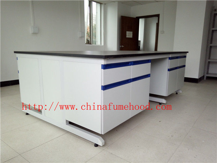 Scratch / Corrrosion / Acid / Alkali -Resistant Chemistry Lab Furniture With Sink And Faucet , Science Lab Workstations