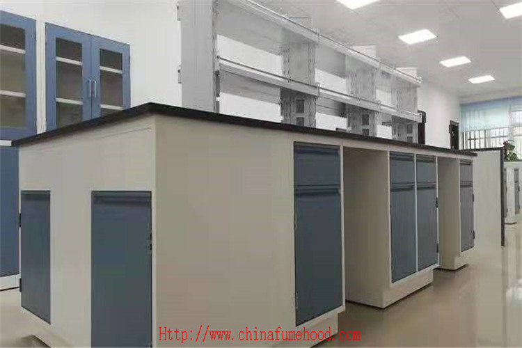 White L* 750 Mm Depth Chemistry Lab Systems Furniture Strong Corrosion Resistance